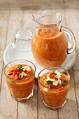 Gazpacho (Cold vegetable soup, Spain)