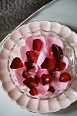 Sugared rose petals for Valentine's Day