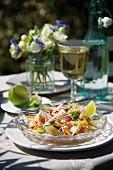 Vietnamese noodle salad with prawns, lemongrass and a ginger vinaigrette