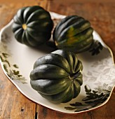 Three Acorn Squash on a Platter