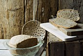 Rustic buckwheat bread
