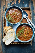 Lentil soup with thyme