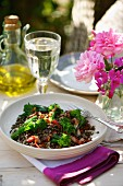 Lentil salad with broccoli