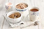 Centaurium tea and tea leaves