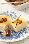 Parmesan pudding with pearl onions