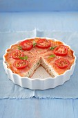 Salmon mousse with tomatoes