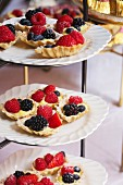 Tiered Trays of Berry Tartlets