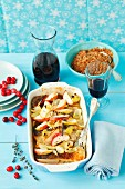 Baked carp with apples and onions (Christmassy)