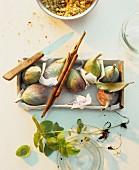 Ripe figs in paper