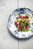 cherry potato and radish salad, spring, gluten free