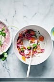 Radish and carrot salad