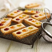Traffic light biscuits with jam