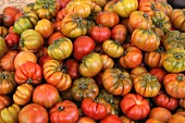 Lots of beefsteak tomatoes at the market