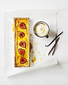 Rectangular Fig Tart; From Above