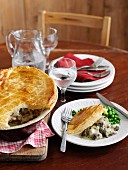 Chicken Puff Pie with Mushrooms and Tarragon