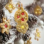Christmas cookies as Christmas tree ornaments