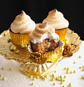 Baked Alaska cupcakes for Christmas