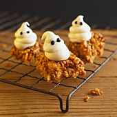 Muesli brownies for Halloween