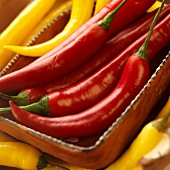 Fresh Red and Yellow Chili Peppers