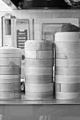 Stacks of Steamer Baskets