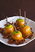 Caramel Apples with Pecans