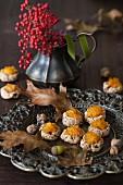 Herbstliche Amaranthplätzchen mit Kürbismarmelade