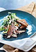 Mackerel with bread and salad