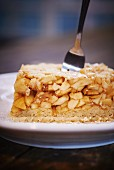 A slice of apple cake