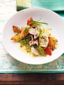 Grilled calamaretti with a Thai curry mayonnaise