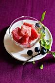 Sloe jelly sweets