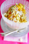 Pineapple salad with cashew nuts