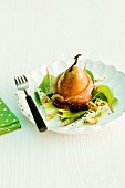 Baked pears with bacon
