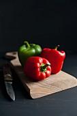 Paprika; rot und grün