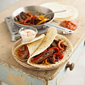 Fajitas with beef and peppers (Mexico)