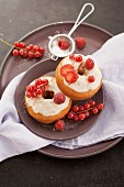 Doughnuts with red berries
