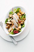 Mushroom salad with chicken