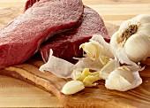 Raw Beef and Garlic