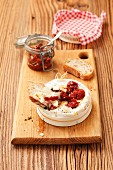 Baked Camembert with sundried tomatoes and thyme