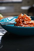 Moroccan Carrot Salad with harissa,