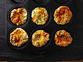 Cheese omelettes with herbs