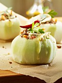 Stuffed kohlrabi with a chilli