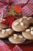 Lebkuchen - German Spice Cookies with Almonds