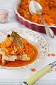 Fischfilet mit Karottenmarinade