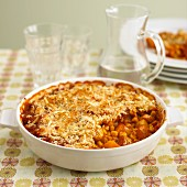 Vegetable bake with squash and sweetcorn