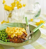 Shepherds Pie with sweetcorn and peas (England)