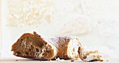 A piece of white bread