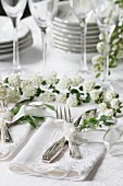 Flatware Setting on Wedding Table