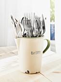 Forks in jug