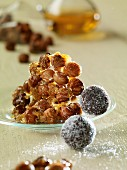 Nut brittle and rum truffles