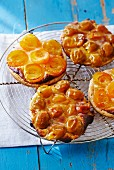 Tartlets with apricots and Mirabelle plums